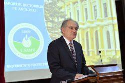 Raportul rectorului pe anul 2013, 21 martie 2014