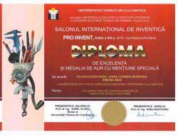 Diplome Proinvent 2015, 27 martie 2015