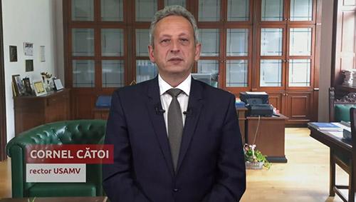 Mesajul rectorului - Cornel Catoi